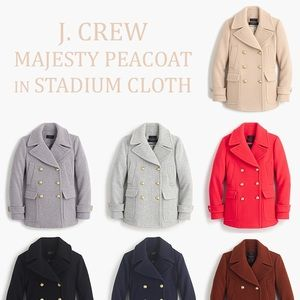 NWT JCrew Majesty Peacoat Black Petite